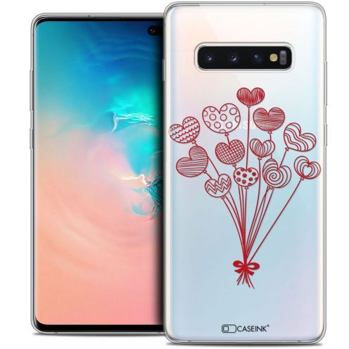 """Extra Slim Crystal Gel Samsung Galaxy S10+ (6.4"""") Case Love Ballons d'amour"""