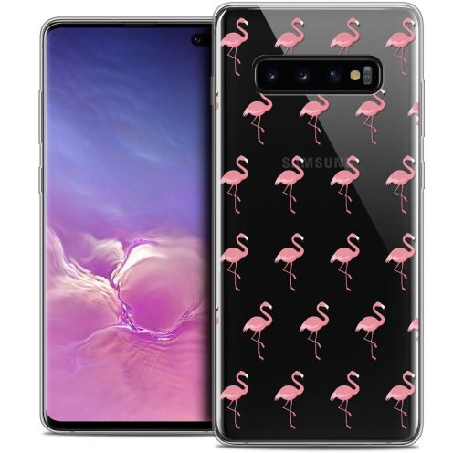 "Extra Slim Crystal Gel Samsung Galaxy S10+ (6.4"") Case Pattern Les flamants Roses"