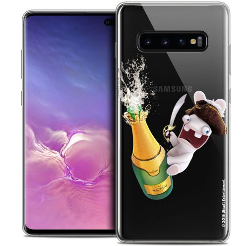"Crystal Gel Samsung Galaxy S10+ (6.4"") Case Lapins Crétins™ Champagne !"