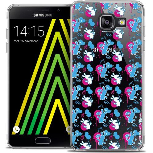 Crystal Galaxy A5 2016 (A510) Case Lapins Crétins™ Rugby Pattern
