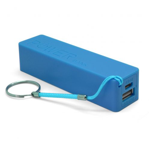 External Battery PowerBank 1A - 1xUSB - 2600mAh - Blue