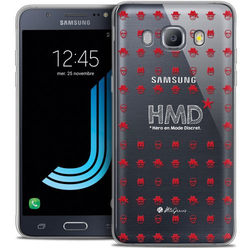 Extra Slim Crystal Galaxy J7 2016 (J710) Case Petits Grains® HMD* Hero en Mode Discret