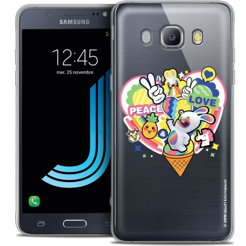 Crystal Galaxy J7 2016 (J710) Case Lapins Crétins™ Peace And Love