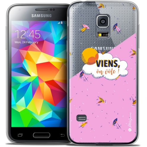 Extra Slim Crystal Galaxy S5 Mini Case Petits Grains® VIENS, On Vole !