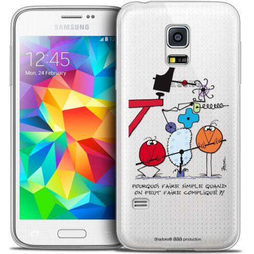 Extra Slim Crystal Galaxy S5 Mini Case Les Shadoks® Pourquoi faire Simple