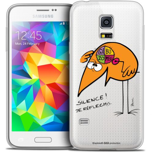 Extra Slim Crystal Galaxy S5 Mini Case Les Shadoks® Silence !