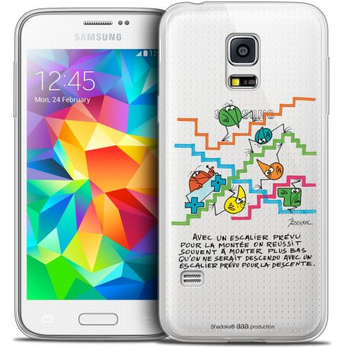 Extra Slim Crystal Galaxy S5 Mini Case Les Shadoks® L'escalier