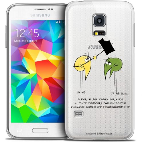 Extra Slim Crystal Galaxy S5 Mini Case Les Shadoks® A Force