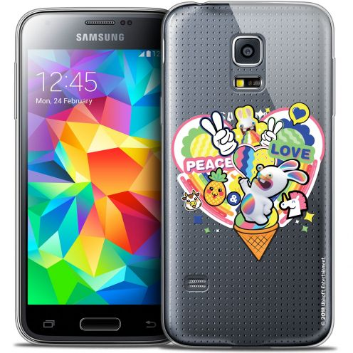 Crystal Galaxy S5 Mini Case Lapins Crétins™ Peace And Love