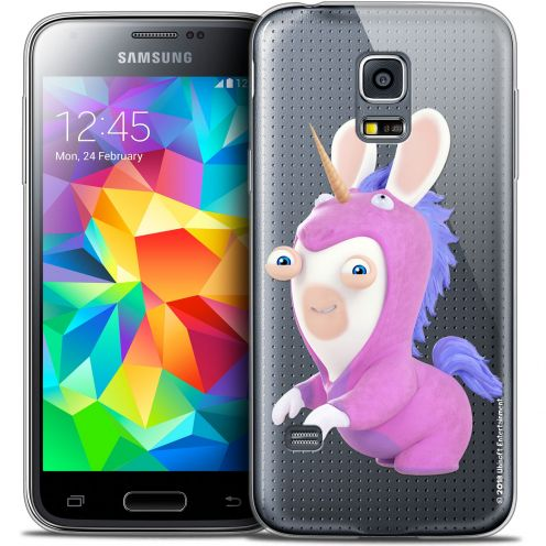 Crystal Galaxy S5 Mini Case Lapins Crétins™ Licorne