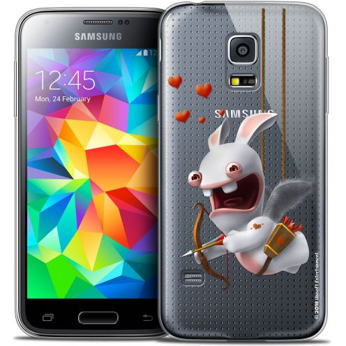 Crystal Galaxy S5 Mini Case Lapins Crétins™ Flying Cupidon
