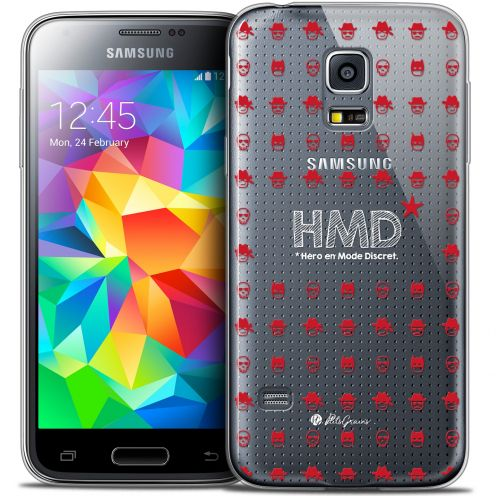 Extra Slim Crystal Galaxy S5 Case Petits Grains® HMD* Hero en Mode Discret