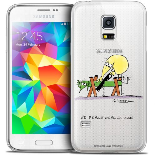 Extra Slim Crystal Galaxy S5 Case Les Shadoks® Je pense Donc