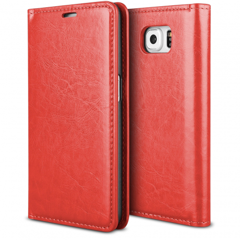 ProSkin Folio Smart Magnet Case for Samsung Galaxy S6 Edge Red