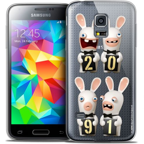 Crystal Galaxy S5 Case Lapins Crétins™ New Year