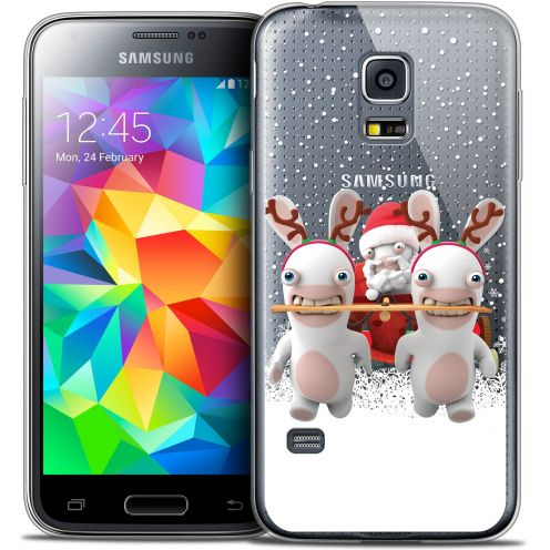 Crystal Galaxy S5 Case Lapins Crétins™ Lapin Traineau
