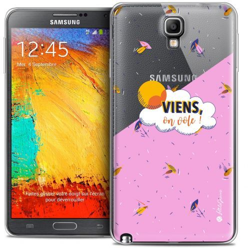 Extra Slim Crystal Galaxy Note 3 Neo / Lite Case Petits Grains® VIENS, On Vole !