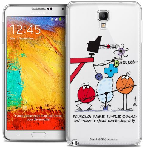 Extra Slim Crystal Galaxy Note 3 Neo / Lite Case Les Shadoks® Pourquoi faire Simple