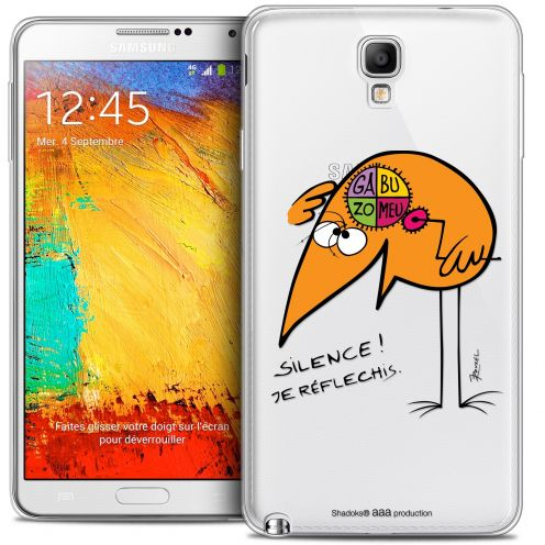 Extra Slim Crystal Galaxy Note 3 Neo / Lite Case Les Shadoks® Silence !