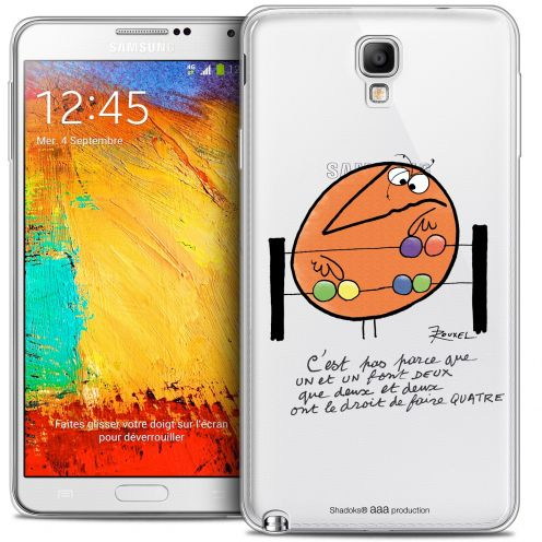 Extra Slim Crystal Galaxy Note 3 Neo / Lite Case Les Shadoks® Mathématique