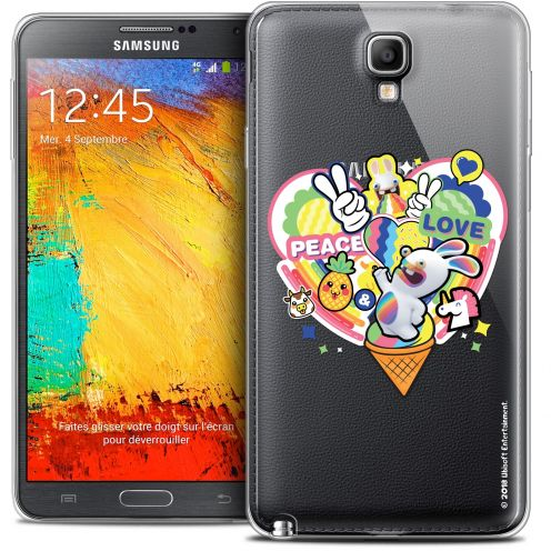 Crystal Galaxy Note 3 Neo / Lite Case Lapins Crétins™ Peace And Love