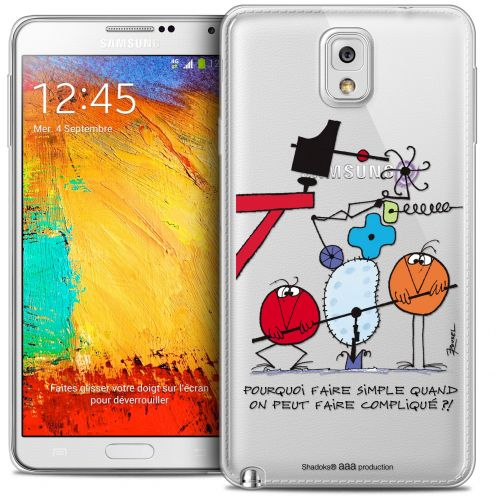 Extra Slim Crystal Galaxy Note 3 Case Les Shadoks® Pourquoi faire Simple