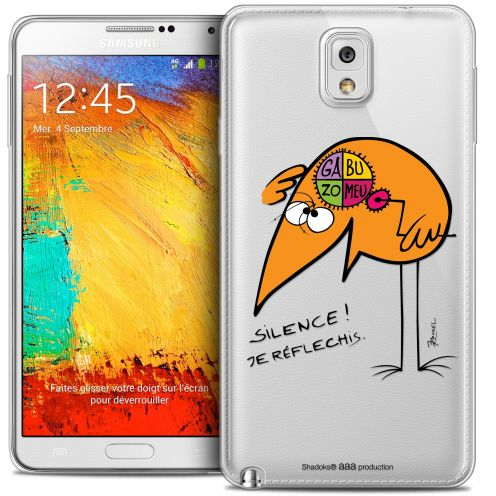 Extra Slim Crystal Galaxy Note 3 Case Les Shadoks® Silence !