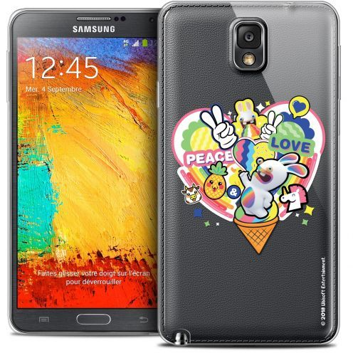 Crystal Galaxy Note 3 Case Lapins Crétins™ Peace And Love