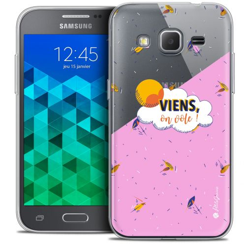 Extra Slim Crystal Samsung Galaxy Core Prime (G360) Case Petits Grains® VIENS, On Vole !