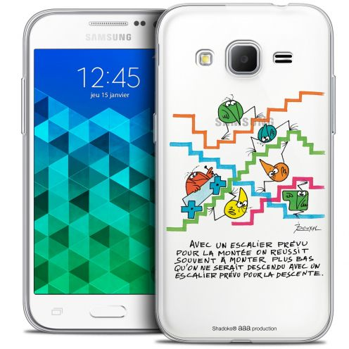 Extra Slim Crystal Samsung Galaxy Core Prime (G360) Case Les Shadoks® L'escalier