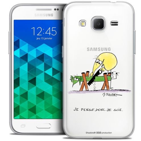 Extra Slim Crystal Samsung Galaxy Core Prime (G360) Case Les Shadoks® Je pense Donc