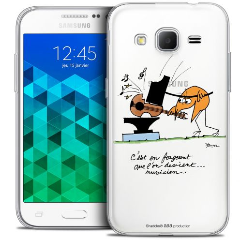 Extra Slim Crystal Samsung Galaxy Core Prime (G360) Case Les Shadoks® Musicien
