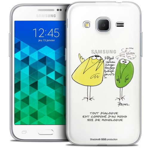 Extra Slim Crystal Samsung Galaxy Core Prime (G360) Case Les Shadoks® Le Dialogue