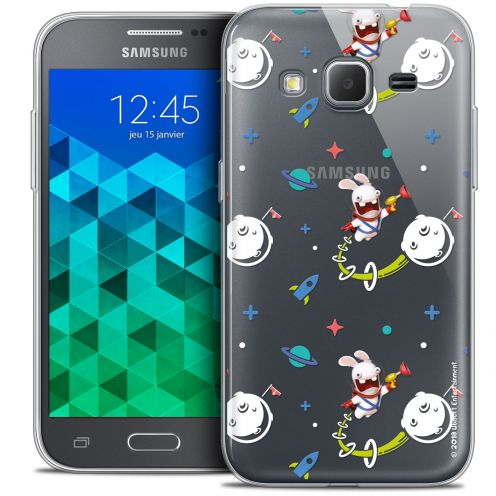 Crystal Samsung Galaxy Core Prime (G360) Case Lapins Crétins™ Space 2