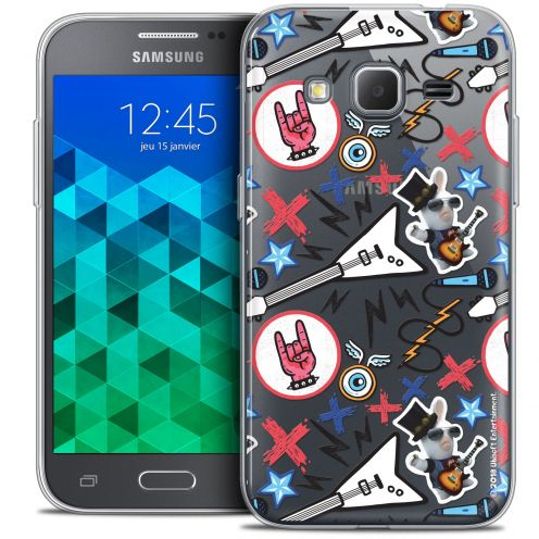Crystal Samsung Galaxy Core Prime (G360) Case Lapins Crétins™ Rock Pattern