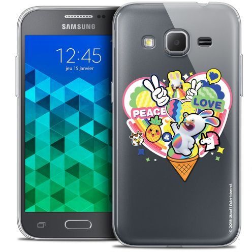 Crystal Samsung Galaxy Core Prime (G360) Case Lapins Crétins™ Peace And Love