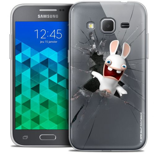 Crystal Samsung Galaxy Core Prime (G360) Case Lapins Crétins™ Breaking Glass