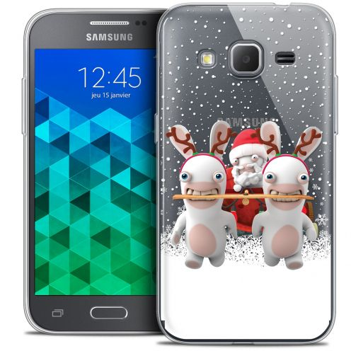 Crystal Samsung Galaxy Core Prime (G360) Case Lapins Crétins™ Lapin Traineau