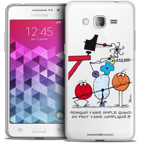 Extra Slim Crystal Galaxy Grand Prime Case Les Shadoks® Pourquoi faire Simple