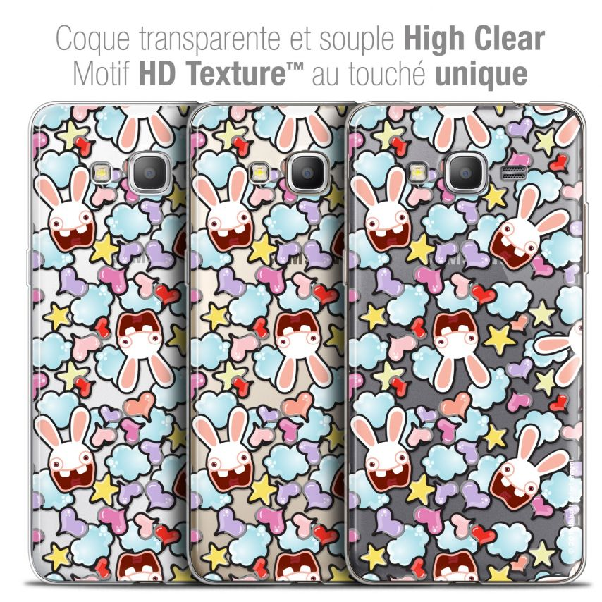 Crystal Galaxy Grand Prime Case Lapins Crétins™ Love Pattern