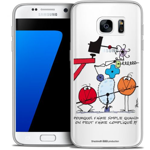 Extra Slim Crystal Galaxy S7 Case Les Shadoks® Pourquoi faire Simple