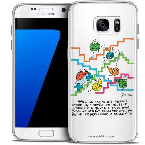 Extra Slim Crystal Galaxy S7 Case Les Shadoks® L'escalier
