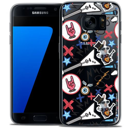 Crystal Galaxy S7 Case Lapins Crétins™ Rock Pattern