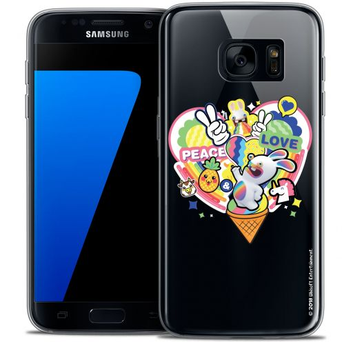 Crystal Galaxy S7 Case Lapins Crétins™ Peace And Love