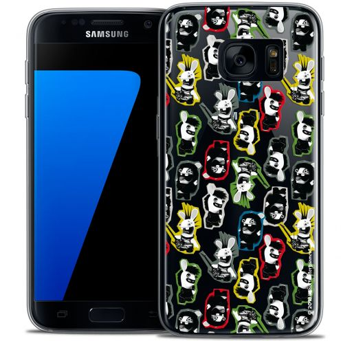 Crystal Galaxy S7 Case Lapins Crétins™ Punk Pattern