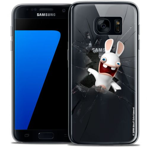 Crystal Galaxy S7 Case Lapins Crétins™ Breaking Glass