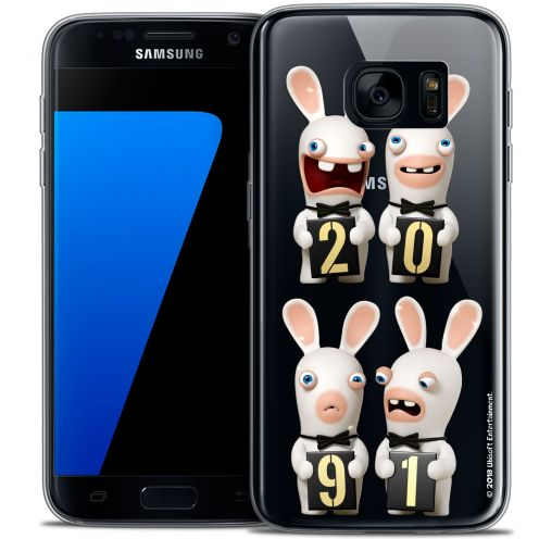 Crystal Galaxy S7 Case Lapins Crétins™ New Year