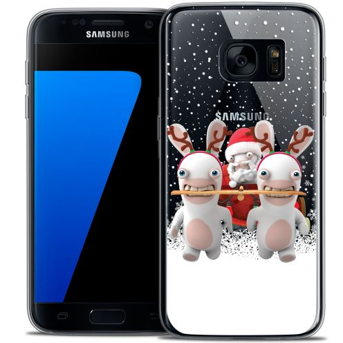 Crystal Galaxy S7 Case Lapins Crétins™ Lapin Traineau