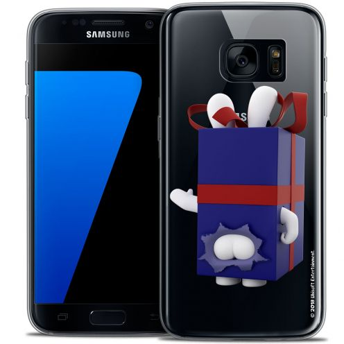 Crystal Galaxy S7 Case Lapins Crétins™ Lapin Surprise Bleu