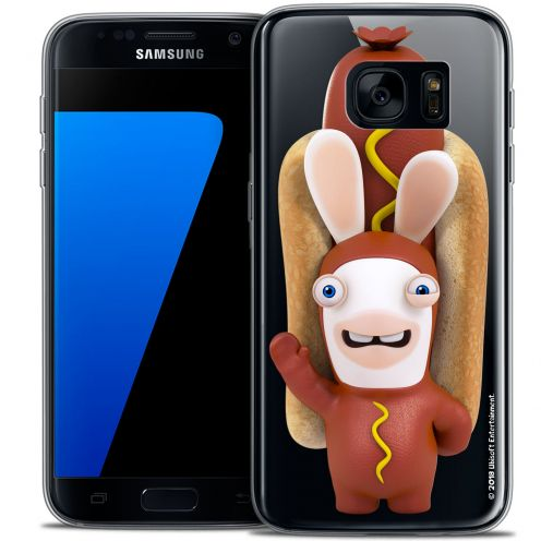 Crystal Galaxy S7 Case Lapins Crétins™ Hot Dog Crétin